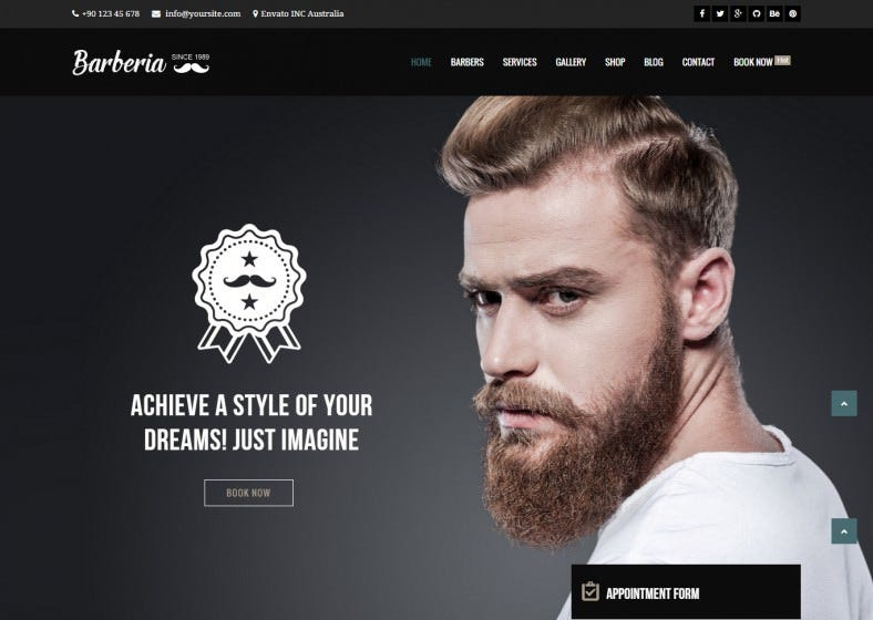 Custom Page Builder Wp Theme for Hair Salon
