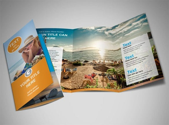 customizable travel tri fold brochure