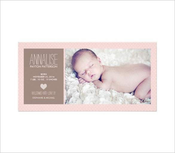 cute baby girl photoshop photo card template