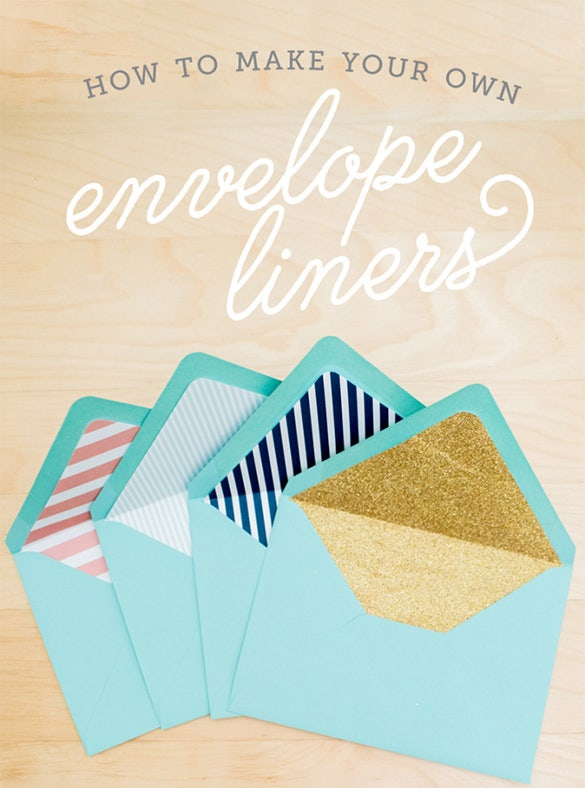 6  envelope liner templates