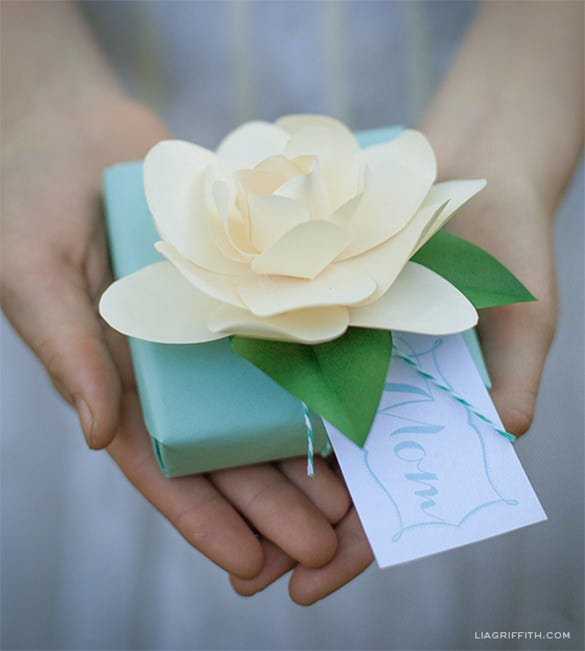 diy paper flower gardenia design