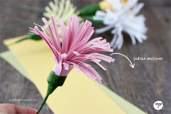 diy paper spider flower template free tutotial