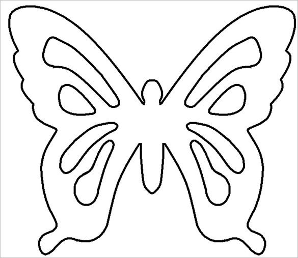 12 psd paper butterfly templates designs free for Butterfly paper cut out template