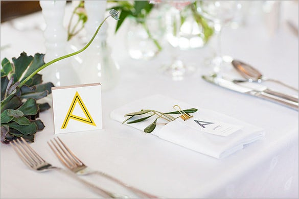25 wedding place card templates free premium templates