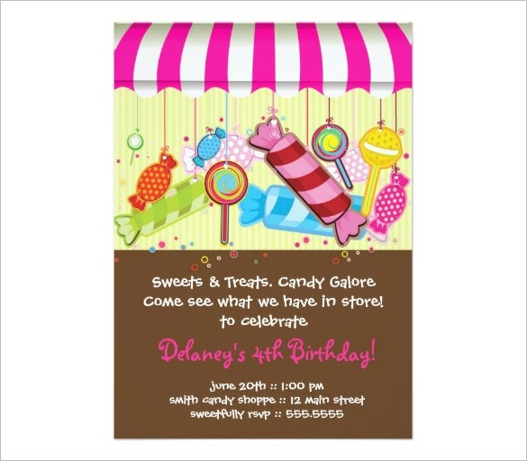 Daniels Candyland Invitation Template