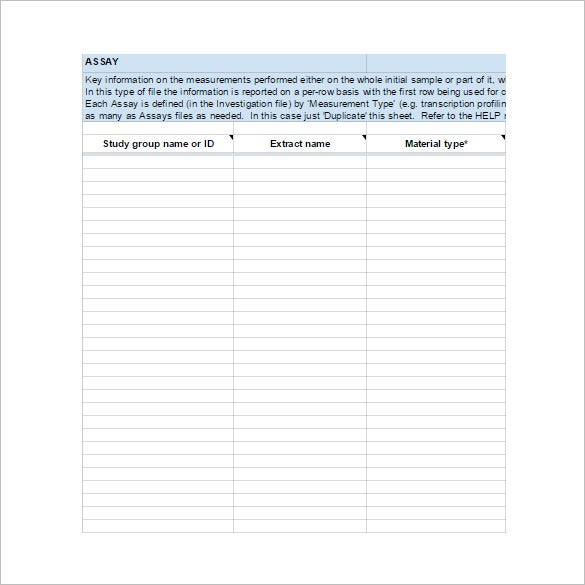 data descriptor worksheet template