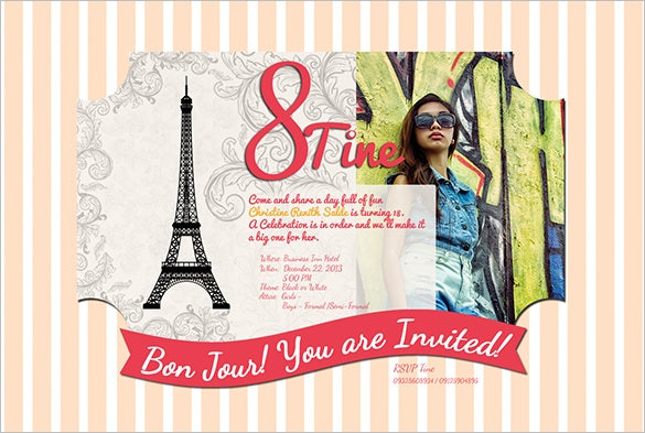 27 debut invitation templates psd ai vector eps free debut invitations stopboris Choice Image