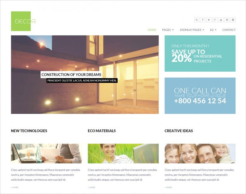 decor multi purpose joomla responsive template 788x623
