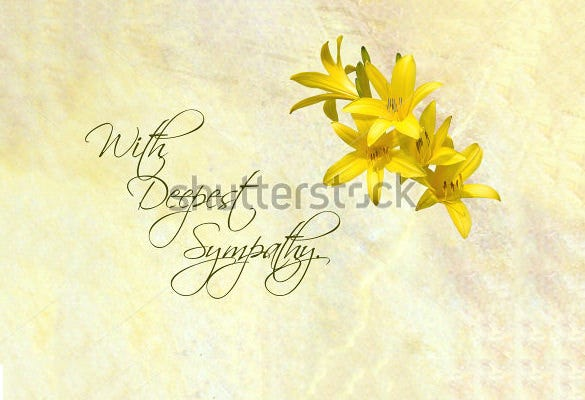 deepest psd sympathy card template