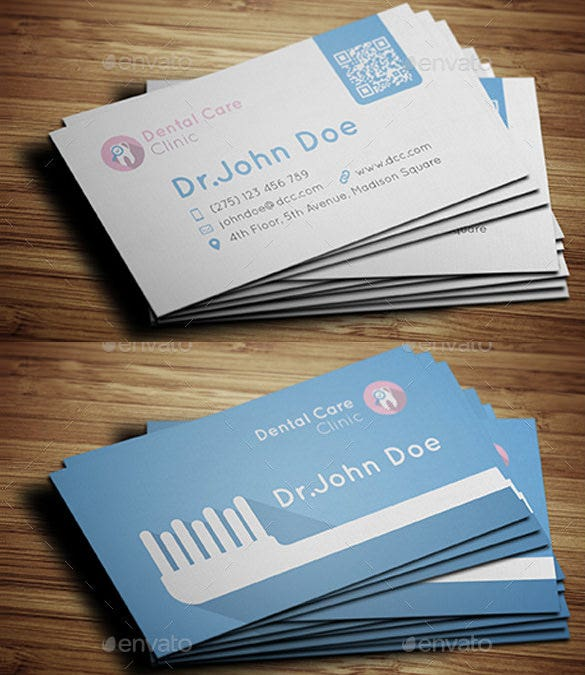 dental care business card download