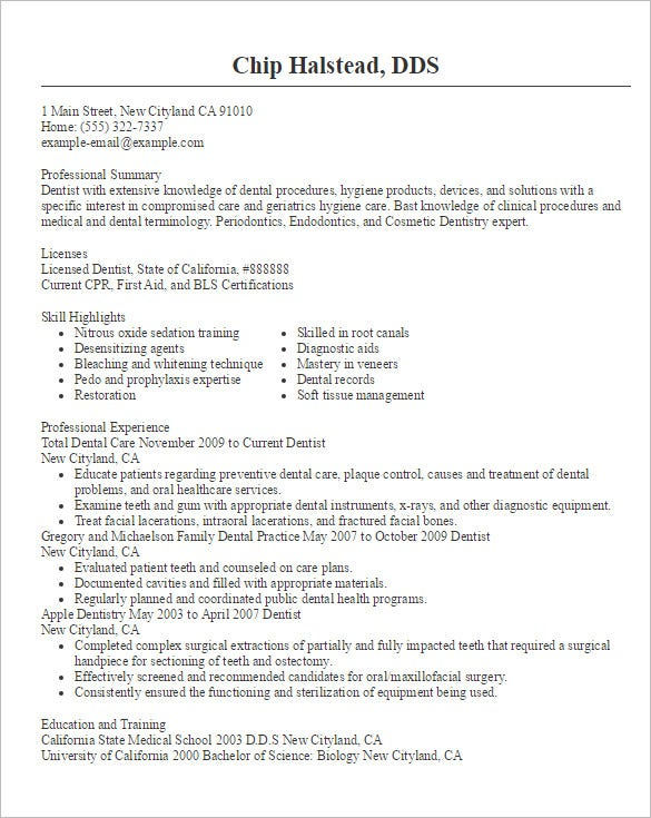 Doctor Resume Templates \u2013 15+ Free Samples, Examples, Format