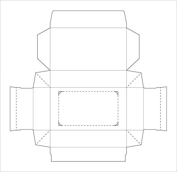 die cutter tissue box template free download