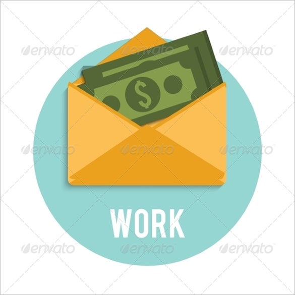 dollar bills in an open money envelope template 4