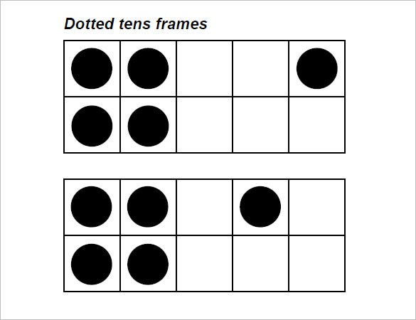 Ten Frame Template And This One Is For A Deep Frame Where The – Tens Frames Worksheets