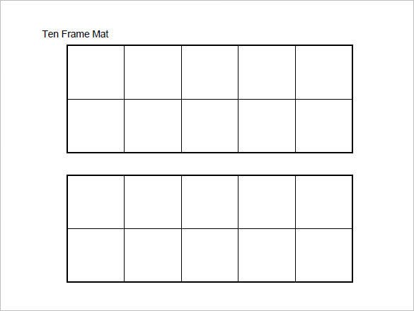 graphic about Ten Frame Printable referred to as 6+ 10 Body Templates - Document, PDF Cost-free High quality Templates