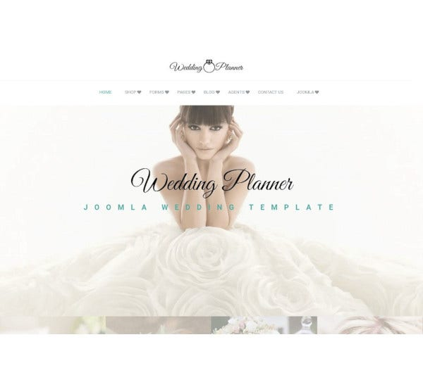 et bridal wedding joomla template