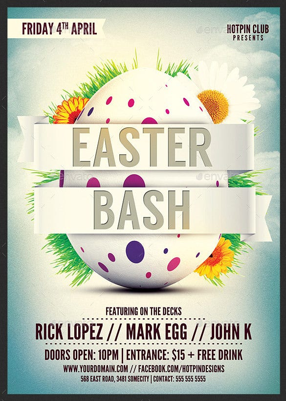easter bash invitation template