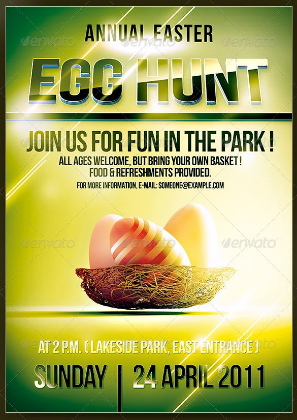 easter egg hunt invitation template