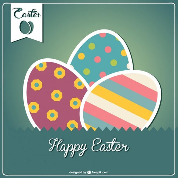 easter free vector card design template