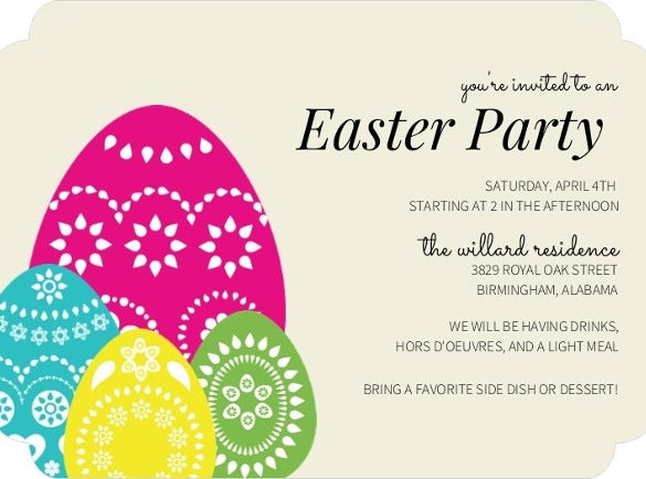 32+ Easter Invitation Templates – Free Sample, Example, Format ...