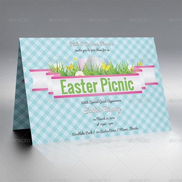easter picnic invitation template