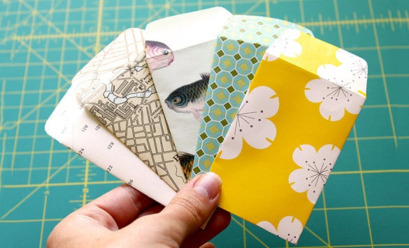 easy tiny envelope tutorial template