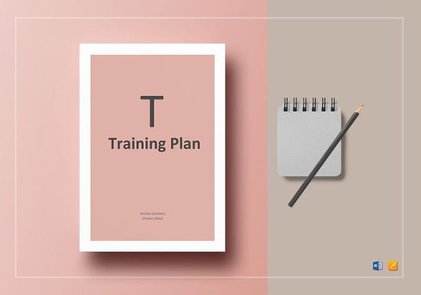 easy to edit training plan template