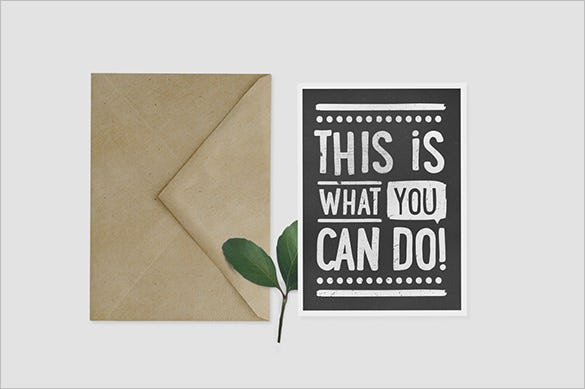 eco 5x7 envelope invitation card template for 15