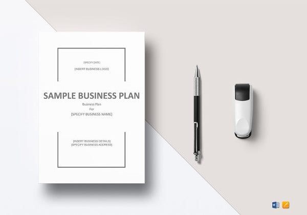 editable business plan template in word