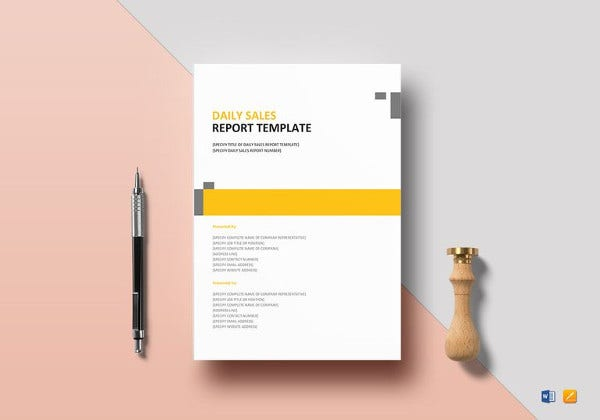 editable daily sales report template