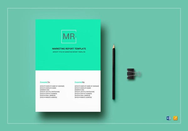 editable marketing report template