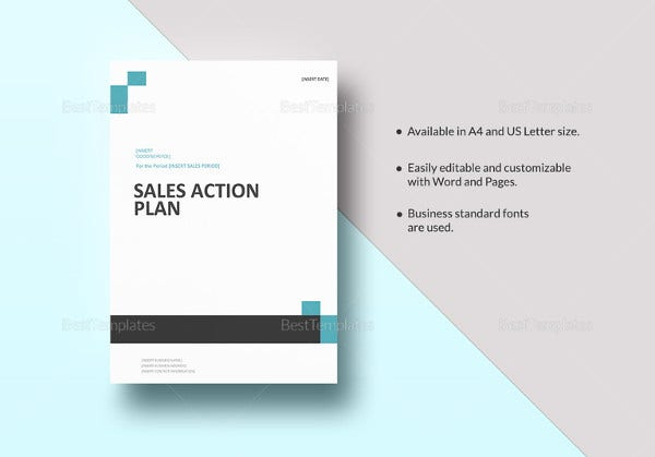 editable sales action plan template