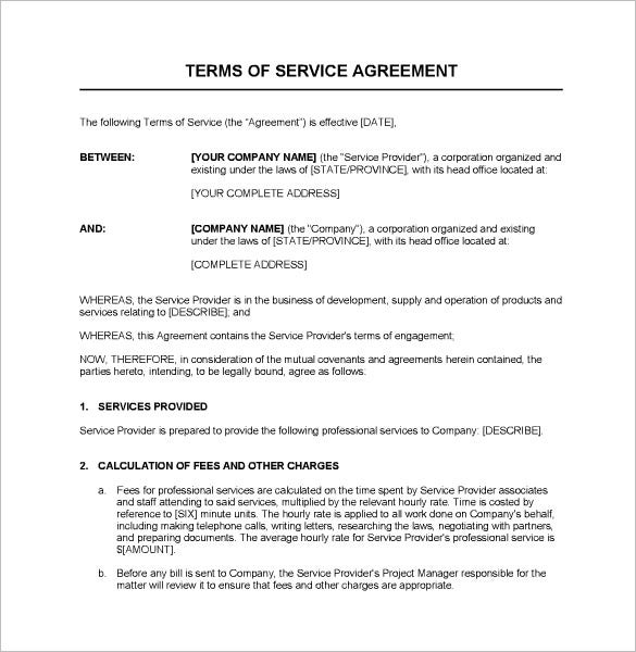 service provider agreement template free - service contract templates 14 free word pdf documents