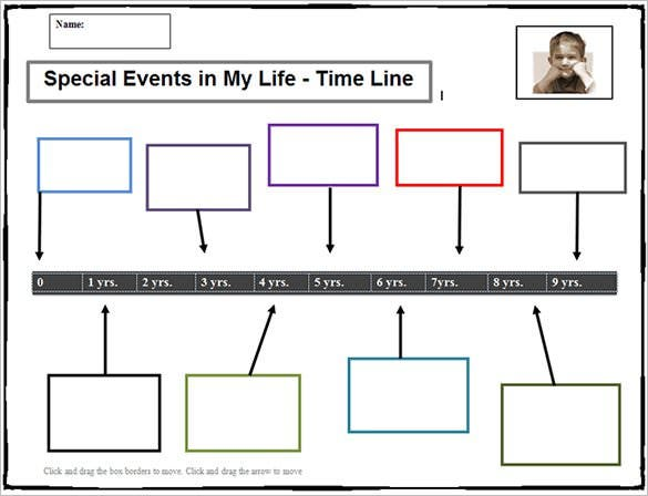 editable timeline template for student free