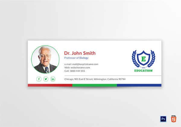 education-email-signature-template