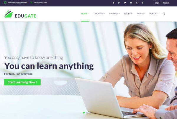 education html templat