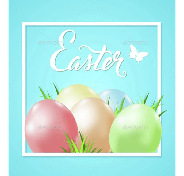 eggs and grass easter card
