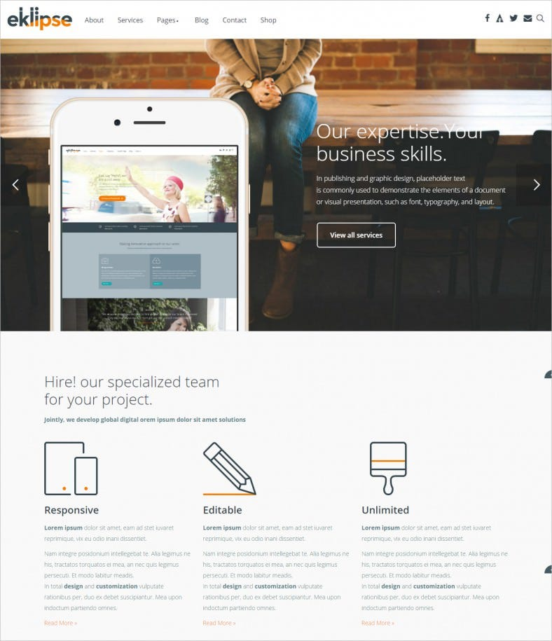 eklipse software responsive wordpress theme 788x915