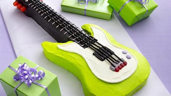 electric guitar cake template