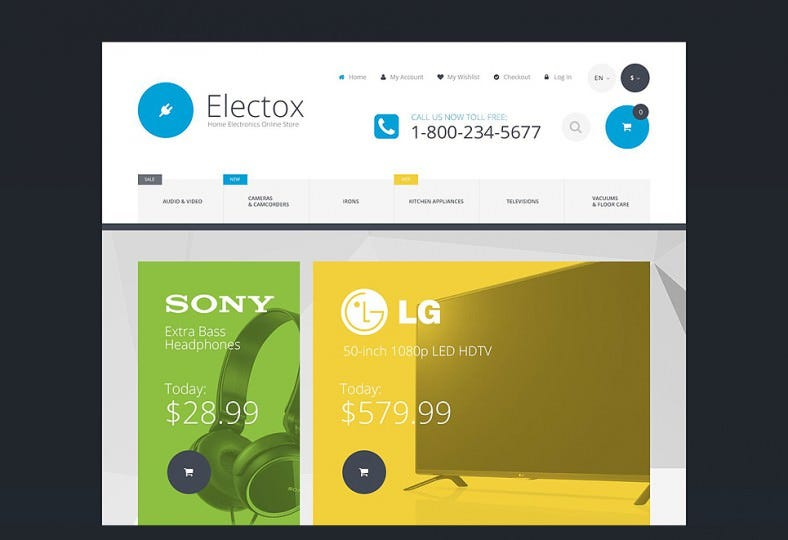 Electronic Store Magento Theme