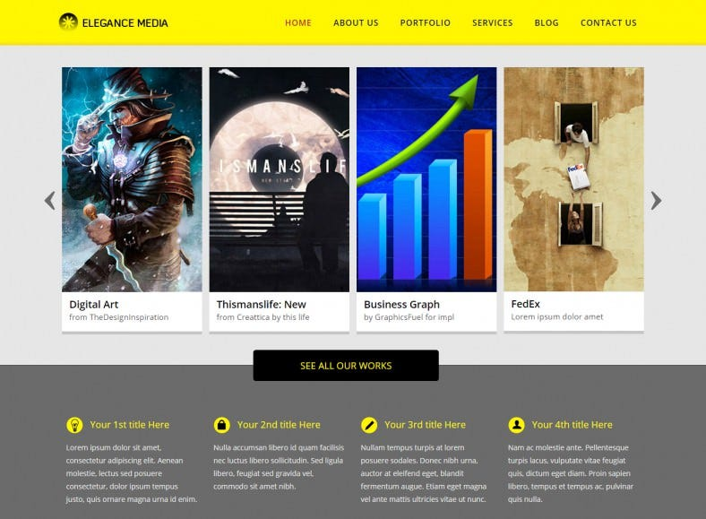 Elegance Media Magazine HTML5 Template Free Download