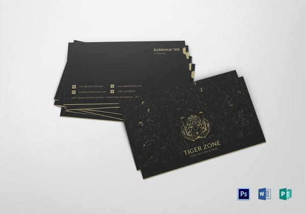 elegant black business card template