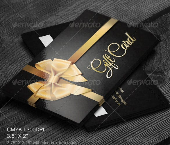 Gift Card Template   Free Printable Word Pdf Psd Eps Format