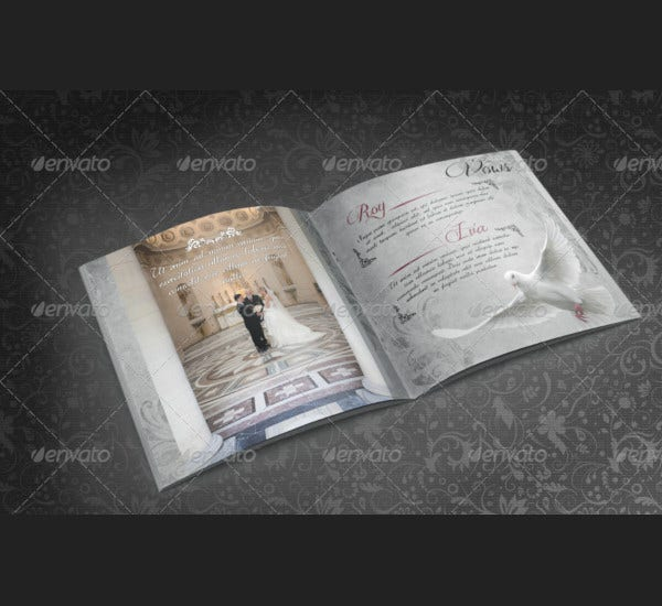 elegant wedding photo album for photoshop