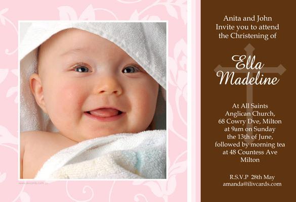 ella madeline naming ceremony invitation