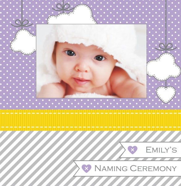 Online Invitation Card Maker Free For Naming Ceremony Baby Naming – Naming Ceremony Invitation Template