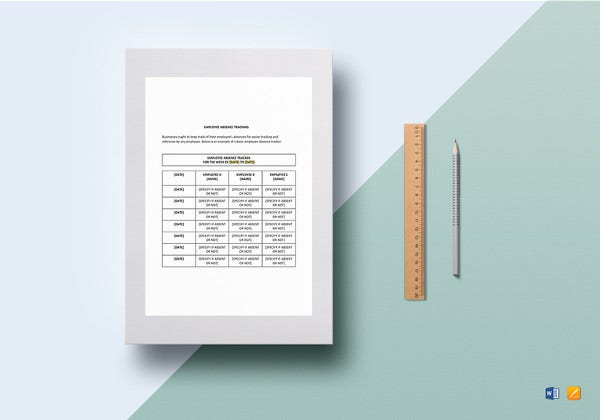 employee absence tracking template to print