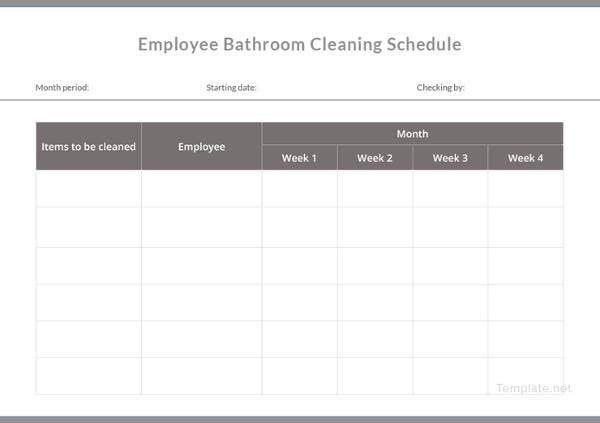 21+ Bathroom Cleaning Schedule Templates - PDF, DOC | Free ...