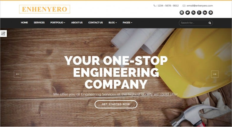 enhenyero engineering industrial wordpress theme 788x433