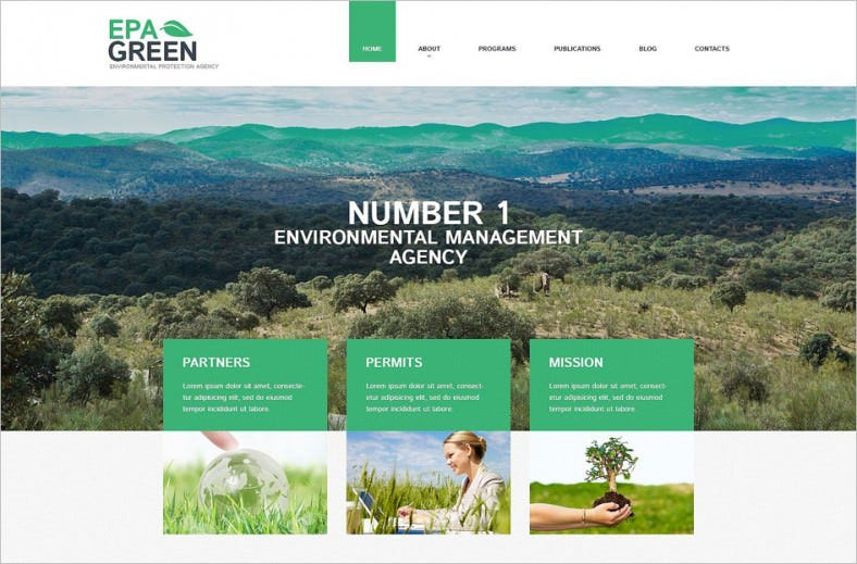 environmental responsive wordpress theme 788x519